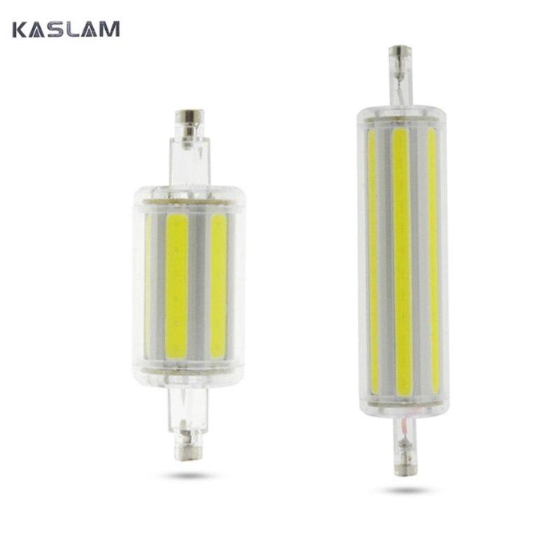 r7s led 118mm 78mm dimmable Instead of halogen lamp cob 220V 110V 127v Energy saving powerful R7S led bulb 15W 30W лампа novotech r7s 78mm 100w 220v