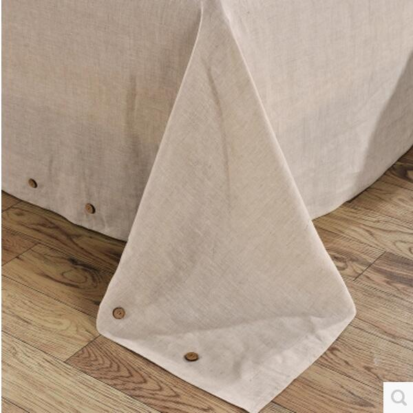 wangzhi Bed Sheet Set  Linen Bedding  Wrinkle, Fade, Stain Resistant - Home Textile - Photo 3
