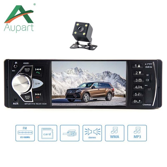 1 Din autoradio Multimedia Player Car Radio 1din Auto audio FM Stereo Bluetooth steering wheel remote control 4.1'' HD