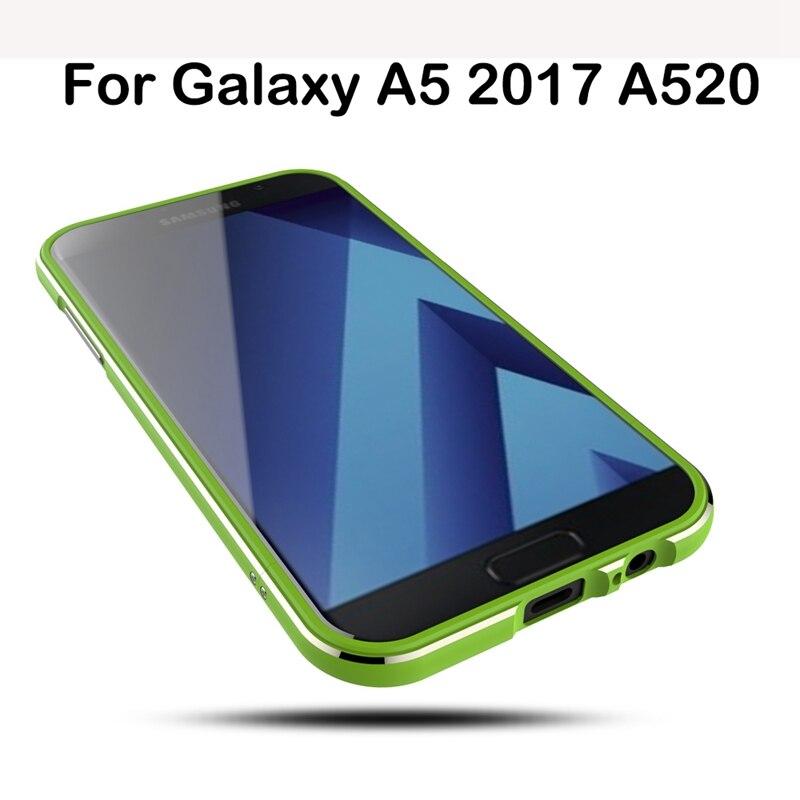 imágenes para Caso de parachoques Con Correa Para Samsung Galaxy A5 2017 Parachoques caso de Aluminio A Prueba de Golpes Para Samsung A5 A520F 2017 Caso Ultra delgada