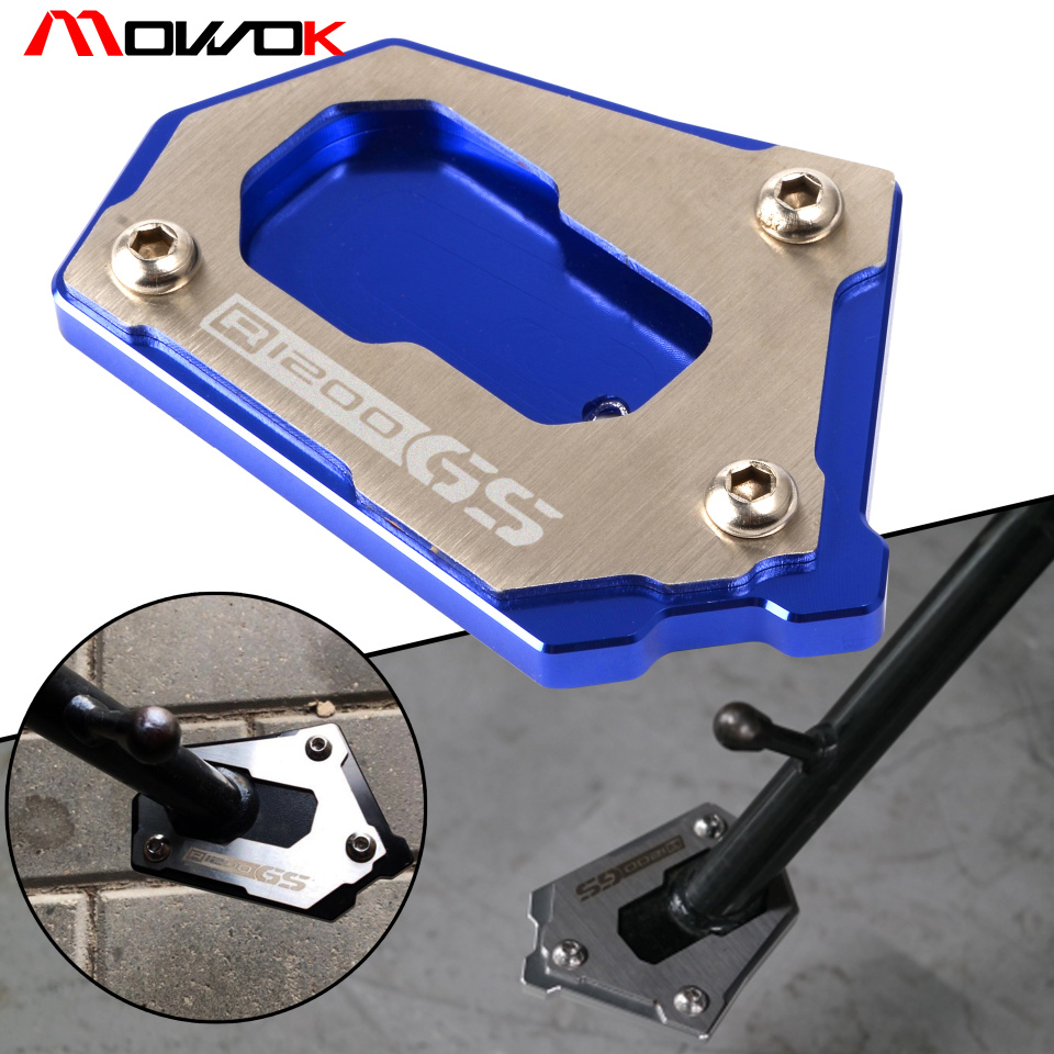 Motorcycle high quality Side Stand Extension Kickstand Plate For BMW R1200GS LC K50 R1200GS Adventure LC K51 2012-2018 image
