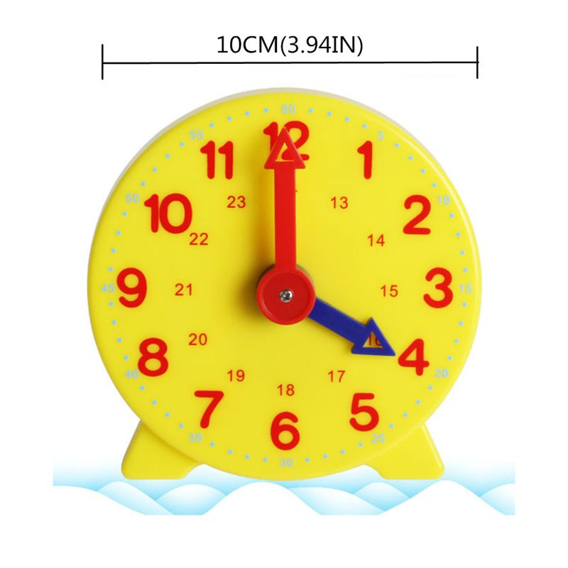 Montessori Student Learning Clock Time Teacher Gear Clock 4 Inch 12/24 Hour