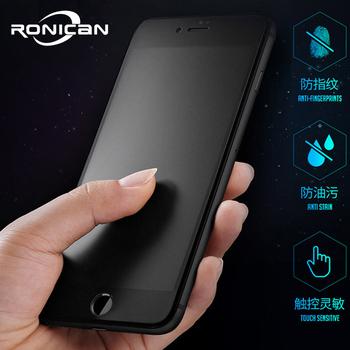 9H 2 5D matowa matowa pełna hartowana obudowa szklany ochraniacz ekranu dla iPhone X XS MAX XR 10 8 7 6s 6 Plus 7Plus anty odciski palców tanie i dobre opinie RONICAN Przedni Film Apple iphone Iphone 6 Iphone 6 plus IPhone 6 s Iphone 6 s plus IPHONE 7 IPHONE 7 PLUS IPhone SE IPHONE 8 PLUS