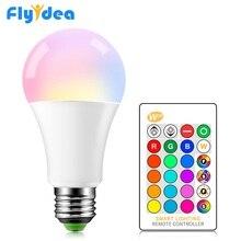 Bombilla LED RGB E27, 5w, 10w, 15W, 16, lámpara mágica que cambia de Color, lámpara inteligente de 220V, 110V, modo de memoria colorido + Control remoto IR