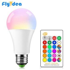 Image 1 - E27 RGB LED ampul 5w 10w 15W 16 renk değiştiren sihirli lampada akıllı işıkları lamba 220V 110V renkli bellek modu + IR uzaktan kumanda