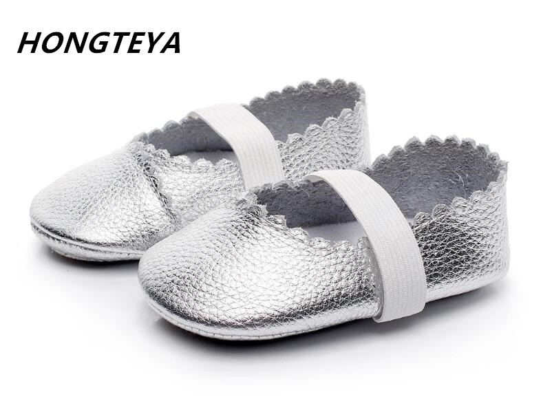 New Designs Princess baby Ballet shoes Cow leather soft sole Baby Moccasins Newborn baby girl Mary jane First walkers shoes