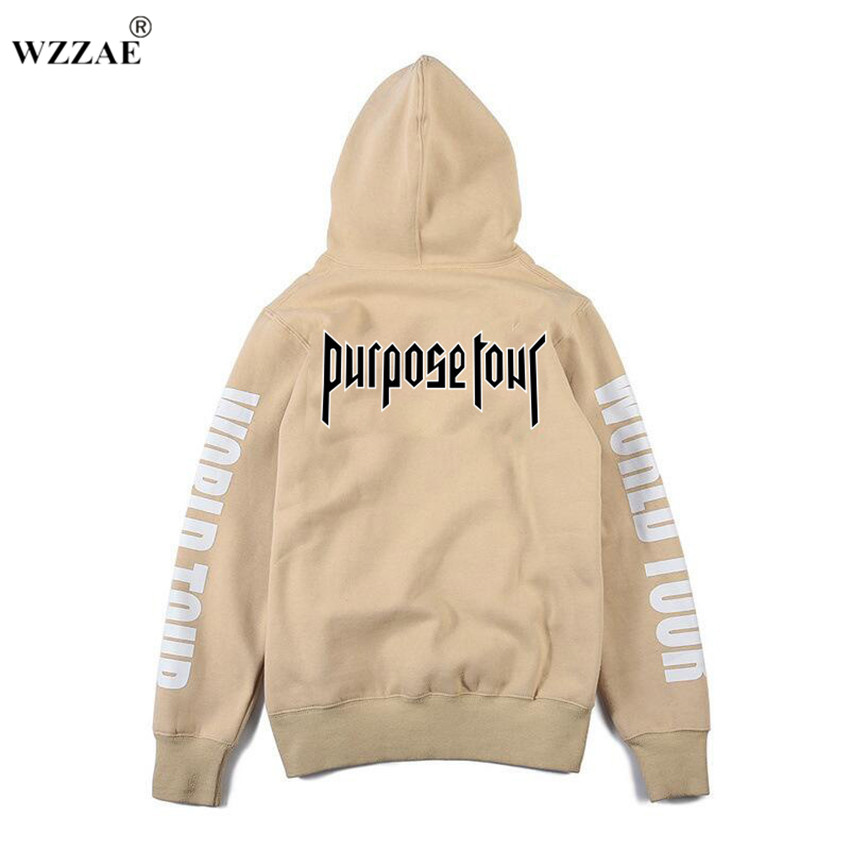 justin bieber purpose tour print hoodie men hip hop. Black Bedroom Furniture Sets. Home Design Ideas
