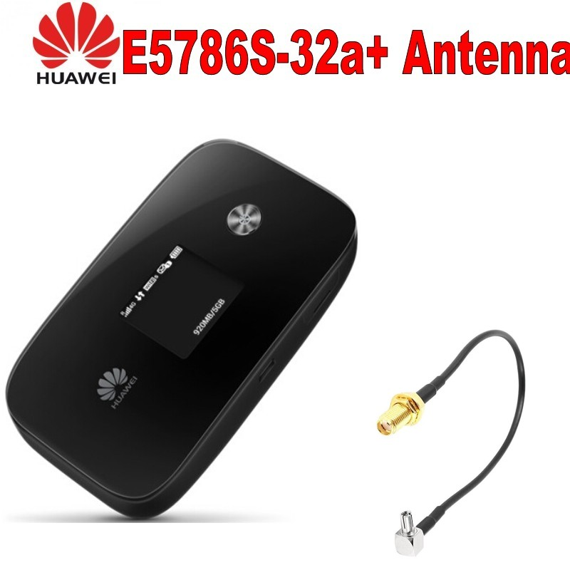 Unlocked New Original HUAWEI  E5786s-32a with antenna  4G LTE Advanced CAT6 300Mbps 4G Pocket WiFi Router mobile hotspot