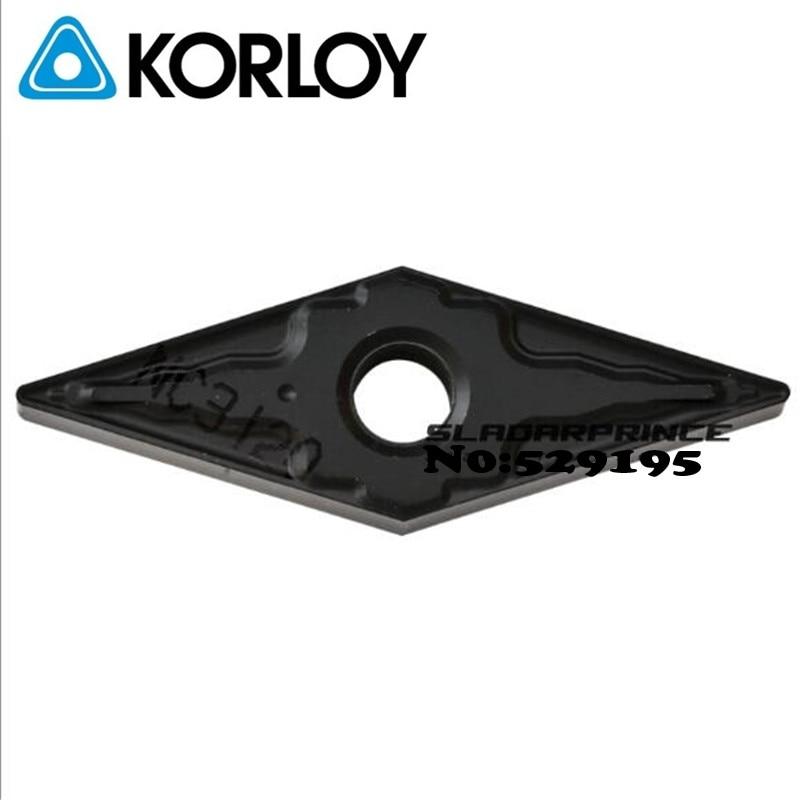 Original Korloy VNMG160404-HM VNMG160408-HM NC3120 Carbide Inserts VNMG 160404 160408 Lathe Cutter Tools Turning Tool Holder