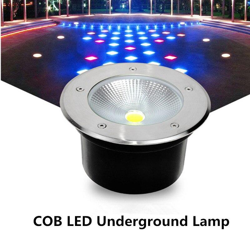 24 W 30 W encastré étape lumière souterraine lampes LED IP68 extérieur jardin Spot paysage éclairage chemin enterré lampe projecteur