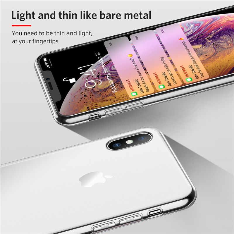 USLION Soft สำหรับ iPhone 11 Pro Max 6 S 7 8 Plus โปร่งใสกรณีสำหรับ iPhone X XR XS Max ซิลิโคน TPU
