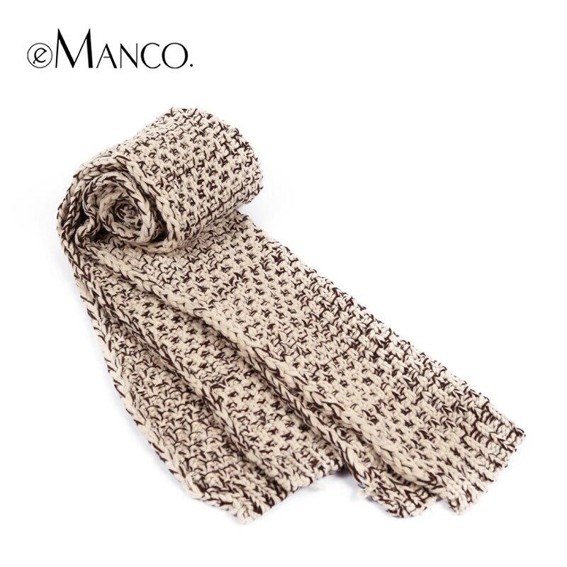 Vintage doble color grueso crochet tejer lana bufanda mujeres ...