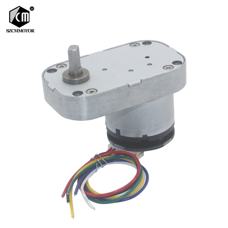 DC 12v-24V Low Speed High Torque Worm Metal Gearbox Gear Motor With Encoder Reversible Electric Geared Motor Quality Gearmotors gw4468 12v 80rpm 24v 160 200rpm low speed high torque worm geared reduction electric dc motor industry machine application robot