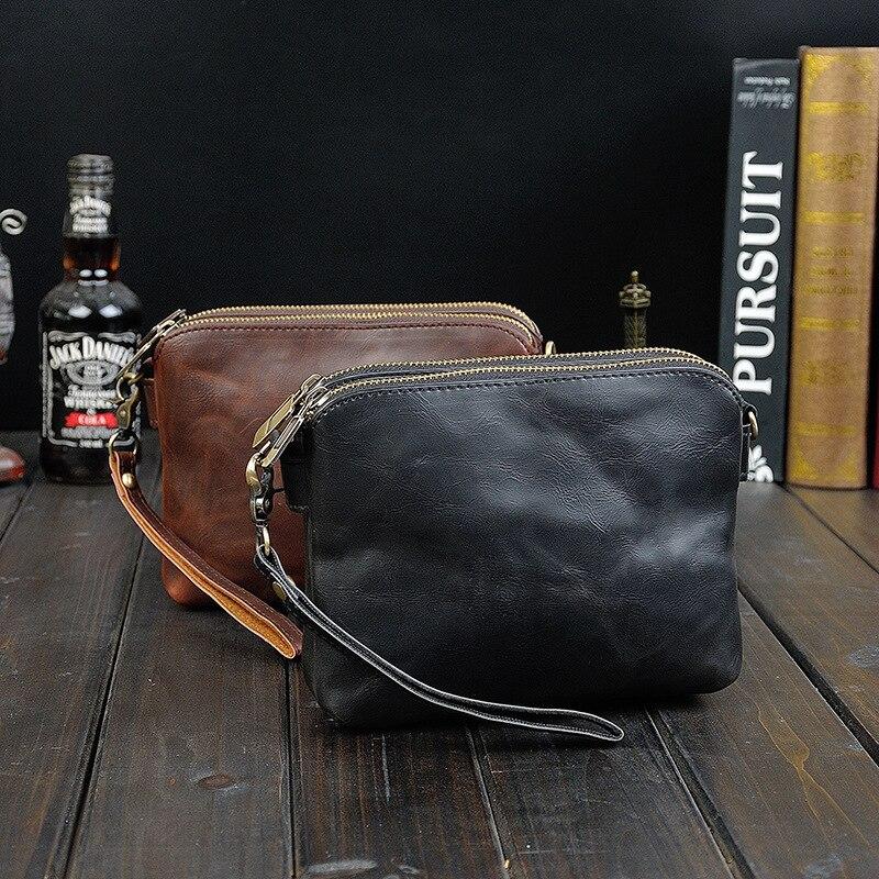 93dda9a3f7 2016 high quality European Luxury business men bags double zipper solid  pattern men shoulder bags