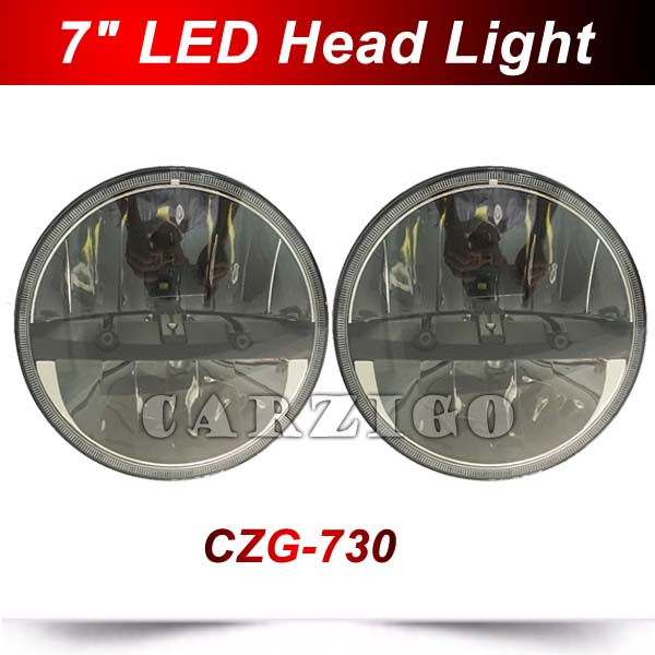 "CZG-730 1pc 7 inch round led head lamp 7"" LED headlight LED headlamps 7"" LED work lights for Jeep Wrangler for harley 4x4offroad"