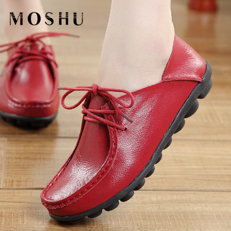 Designer Women Flats Split Leather Oxford Summer Casual Shoes Loafers  Round Toe Mother Shoes Slip On Chaussure Femme women casual shoes women flats wedge shoes loafers slip on summer ballet flats butterfly knot red black chaussure femme