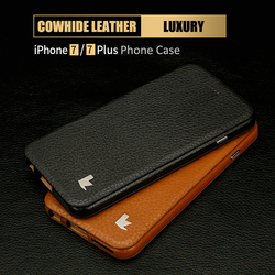 Jisoncase Mobile Phone Case For iPhone 7 Kickstand Flip Cases For iPhone7 Plus Leather Protect Shell Business Anti-knock Cover