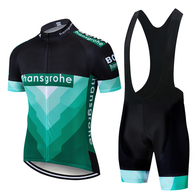 New 2019 Team Men's Summer Cycling Jersey Short Sleeve Suit Set Clothing Clothes Bib Shorts Bicycle Breathable Shirt paded