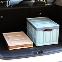 Foldable car trunk container plastic covered toy packing box student large book storage wooden bins organizer shoe