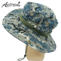 [AETRENDS] 2017 Outdoor Mountaineering Camouflage Round Brimmed Panama Hat Hiking Cap Fishing Sun Hats Z-3058