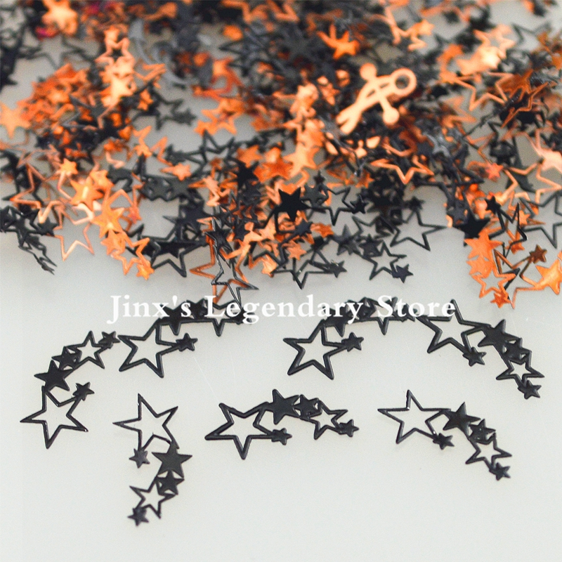 цены 2018 black metal nail foil decals sticker for 3d Nail Art Decor Slice Stickers Decal decorations beauty tools  stars  design