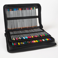 160 Holes Portable Markers Case Holder Waterproof Large Capacity PU Colored Pencil Bag For Student Gifts Art Supplies