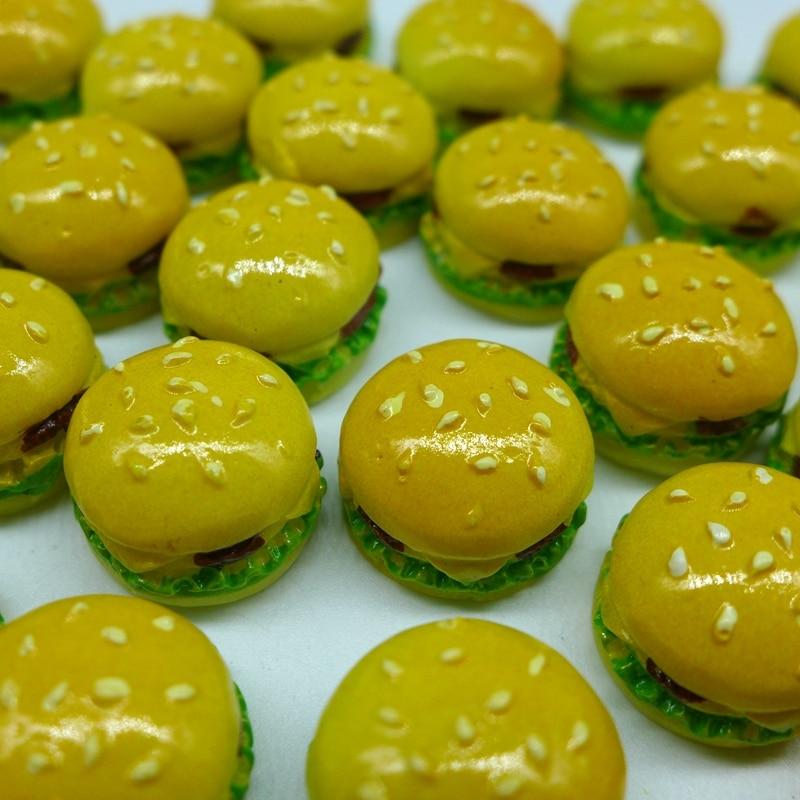 17*12 Free Shipping!Resin Cute Hamburger,Resin FlatBack Cabochon for Decoration, DIY,Simulation food