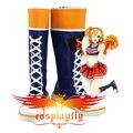 Amor vivo animado Honoka Kosaka paraíso vivo azul botas animan equipo Cosplay Shoes Boots para baile de disfraces
