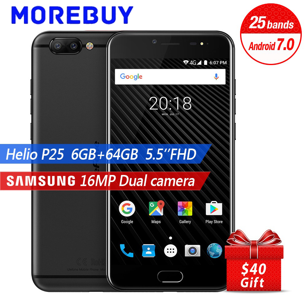 Ulefone T1 Smartphone MTK Helio P25 Octa Core 6 64G Android 7 0 Dual Rear Camera