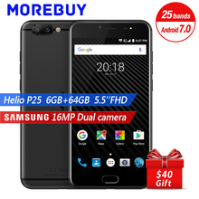 Ulefone T1 Smartphone MTK Helio P25 Octa Core 6+64G Android 7.0 Dual Rear Camera 16+5MP 5.5″ FHD Front Fingerprint OTG Cellphone