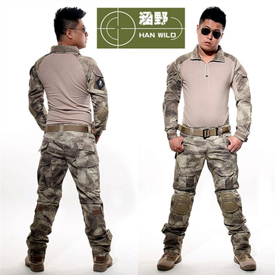Army military tactical cargo pants uniform waterproof camouflage tactical military bdu combat uniform us army men clothing set tactical g3 uniform hunting combat shirt cargo with pants knee pads camouflage bdu army military men clothing set acu fg black
