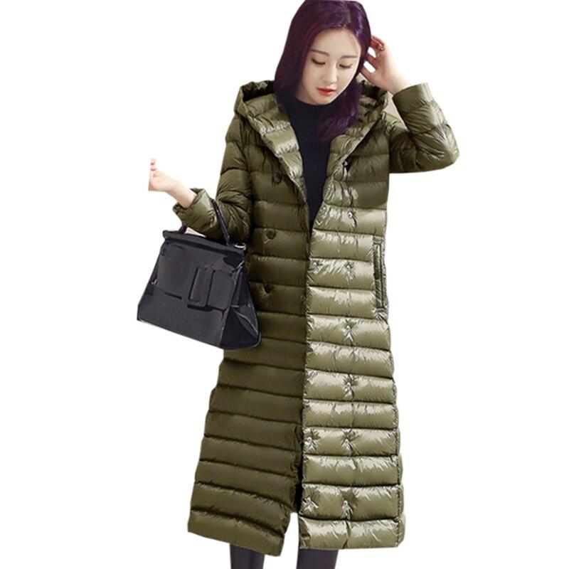 Fashion X-Long Ultra Light Down Coat Women Hooded Slim Duck Down Jacket Spring Winter Outwear Coats Light Thin Down Coat FP0392 2015 men fall winter duck down jacket ultra light thermal fashion travel pocketable portable thin sports duck coats outerwear 4