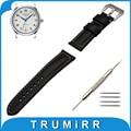 22mm Faixa De Relógio de Couro Genuíno para Longines L2 L3 L4 Master Conquista Tang Buckle Strap Pulseira Cinto de Aço Inoxidável pulseira
