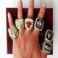 6 PCS 1991 1992 1993 1996 1997 1998 Michael Jordan Chicago Bulls Replica Championship Basketball Champion Rings Set