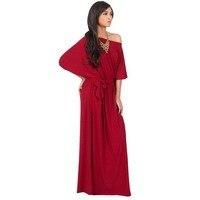Stile europeo plus size M-4XL donne del vestito sexy slash neck mezza manica di modo elastico in vita della boemia pullover dress 291