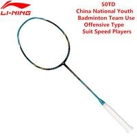 Li Ning PM Ball control 50TD Professional ракетки для бадминтона AYPK094/AYPK082 Li Ning 3U ракетка спортивная с бесплатным захватом L517OLB
