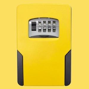 Image 4 - Big size Wall Mounted Key Storage Organizer Boxes with 4 Digit Combination Lock Spare Keys Organizer Boxes Metal Secret Safe Box