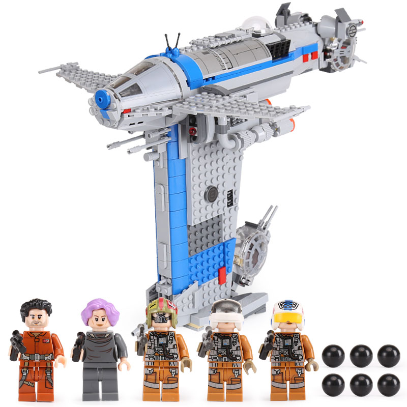 Lepin 05129 873pc Star Toys Wars The Legoing 75188 Resistance Bomber