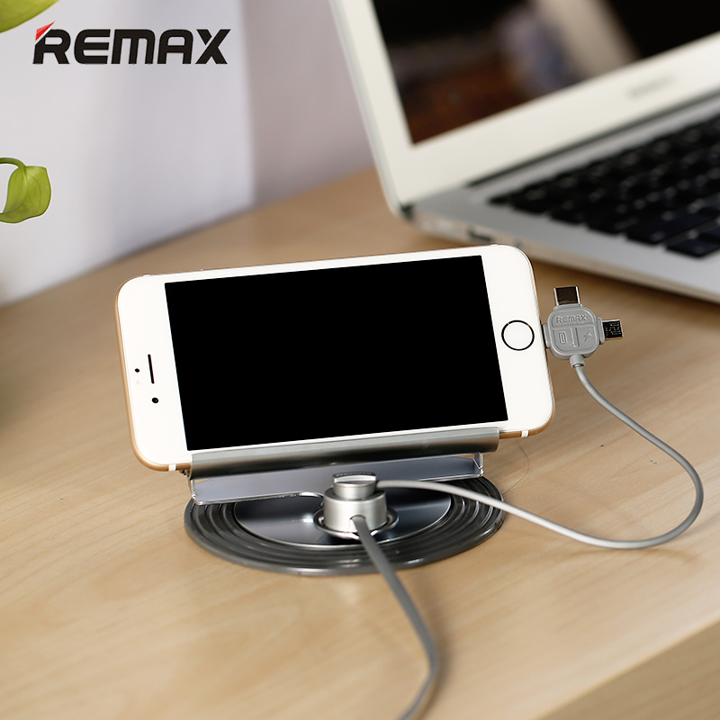 Universal <font><b>Remax</b></font> Car Phone Holder 3 in 1 Type C Micro Usb Magnetic <font><b>Charger</b></font> Cable for iPhone 7plus 6 Samsung Huawei Xiaomi Meizu