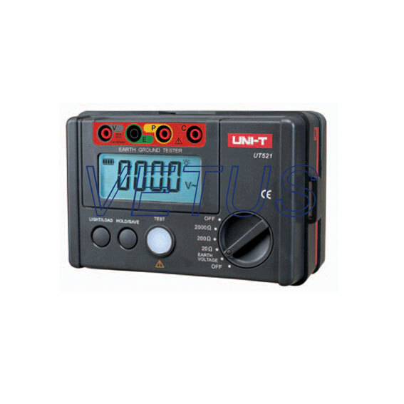 UNI-T UT521 digital earth resistance tester with Earth Resistance testing range 0 ~ 2000 ohm