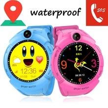 Купить с кэшбэком Q610S 2018 New GPS Tracking Watch Kids SOS Call Location Finder Smart Watch Waterproof Sport Bracelet 1.4 Inch Color Screen