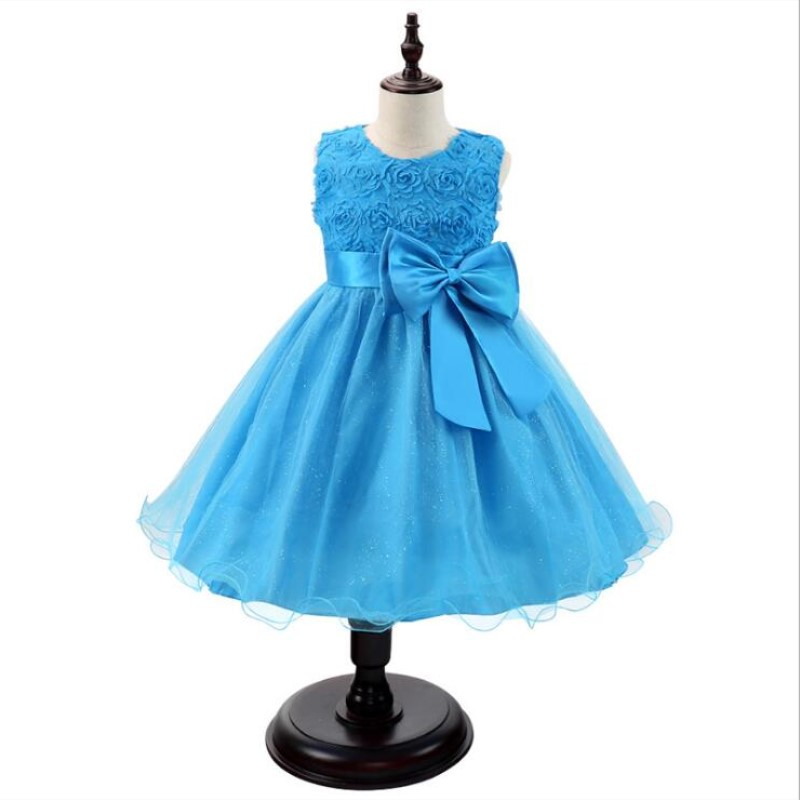 Baby Girls Princess Dress Wedding Dress New Summer Princess Dress Baby Girl Clothes Children Girls Party Kids Dress in Dresses from Mother Kids
