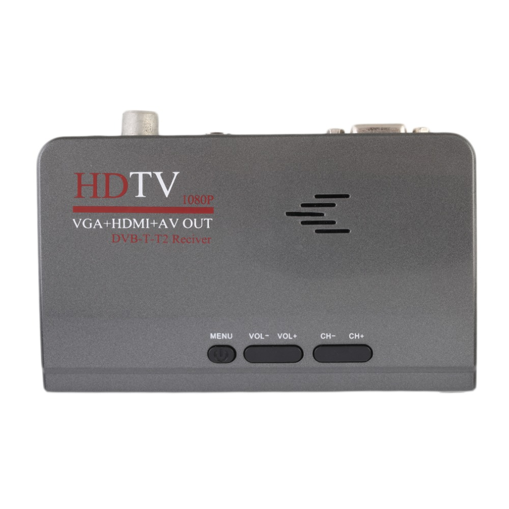 Multifuncional LCD TV Box HD 1080 P Sintonizador de TV Externo Ordenador PC TV P