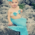 Children's photography clothing photographed knitting wool suit infant apparel Baby mermaid Creative clothes