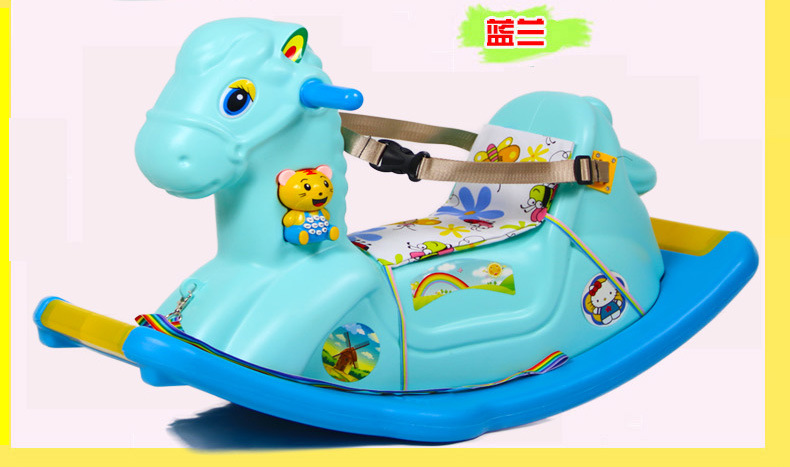 Children's Rocking Horse  Baby Rocking Chair ride on toys with music 1-6 Years Old Baby Birthday Gift  Baby Jumper