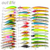 43 53 60pcs New Mixed 6 Set Minnow Fishing Lure Artificial Lifelike Carp Fishing Tackle Plastic