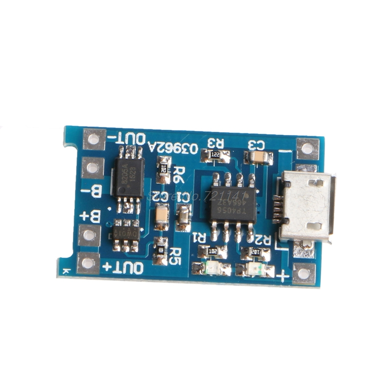 1PC Micro 5V 1A USB 18650 Lithium Battery Charging Board Module+Protection Electronics Stocks