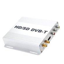 Carro DVB-T HD SD Multi-Canal Móvel Digital Mini TV Box Sintonizador analógico de Alta Velocidade 240 km/h Forte Receptor de Sinal para o Carro Monitor de