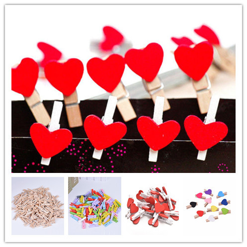 10/20/50Pcs Mini Natural Wooden Clips For Photo Clips Clothespin Craft Decoration Clips Pegs
