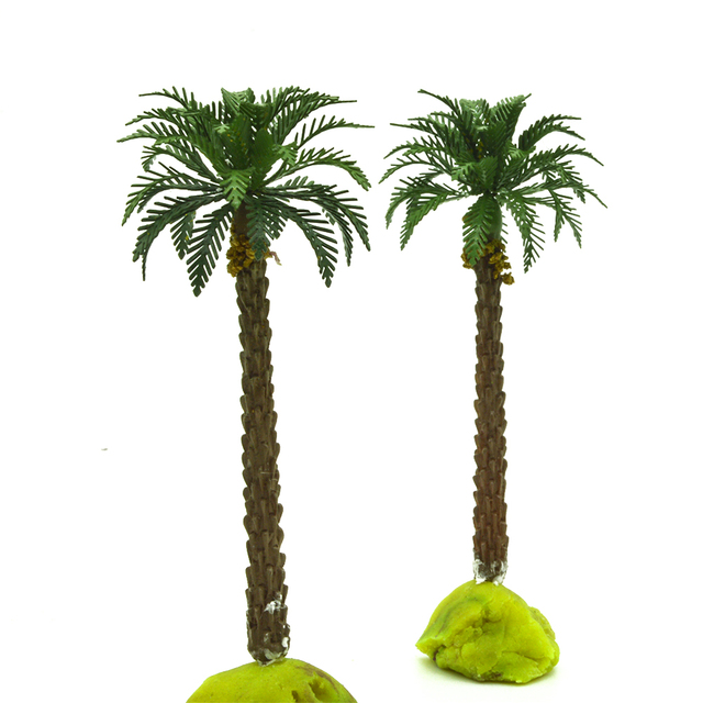 1 100 10 5cm Scale Palm Trees With Copper Leaves Cocos Nucifera Model For Scenery Train Layout Constructions
